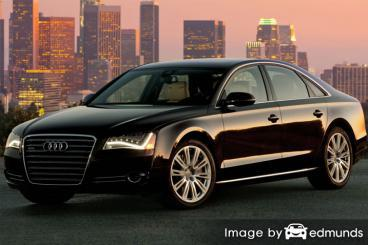 Insurance rates Audi A8 in Newark