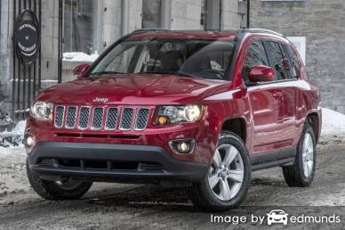 Insurance rates Jeep Compass in Newark