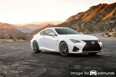 Insurance rates Lexus RC F in Newark