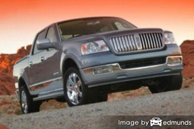 Insurance rates Lincoln Mark LT in Newark