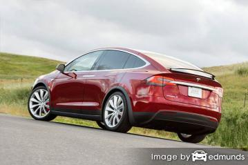 Insurance quote for Tesla Model X in Newark